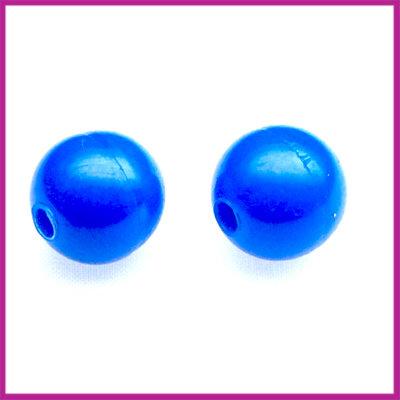Kunststofkraal rond ø10mm helder blauw