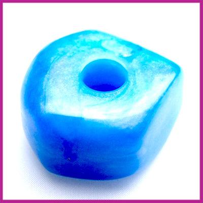 Kunststofkraal 6-kant middelgroot blauw