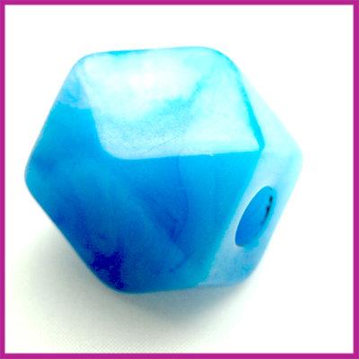 Kunststofkraal kubus middel blauw