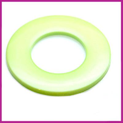 Kunststof ring plat lime groen