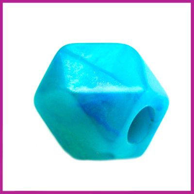 Kunststofkraal kubus klein zee groen