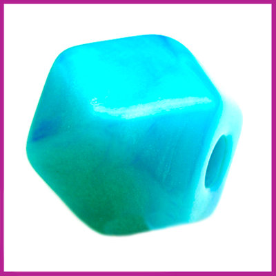 Kunststofkraal kubus middel zee groen