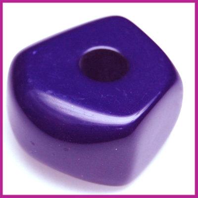 Kunststofkraal 6-kant middelgroot donker paars