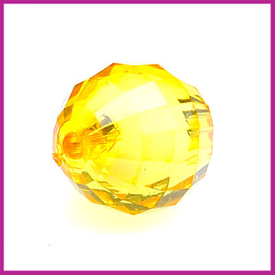 Kunststofkraal geel facet