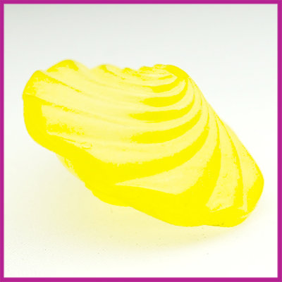 Kunststofkraal geel platte twist