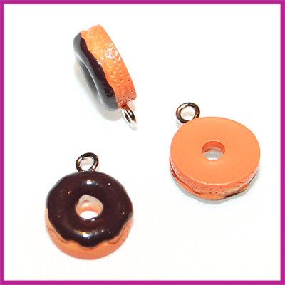 Kunststof Donut hanger bruin 13x5 mm