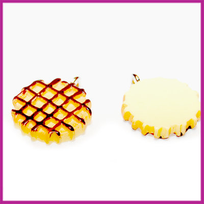 Kunststof ronde wafel hanger 17x4 mm