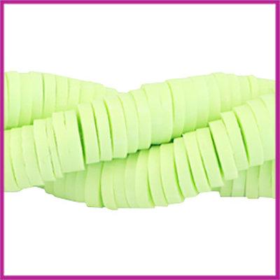 Katsuki kralen disc rond 4mm Pastel lime green