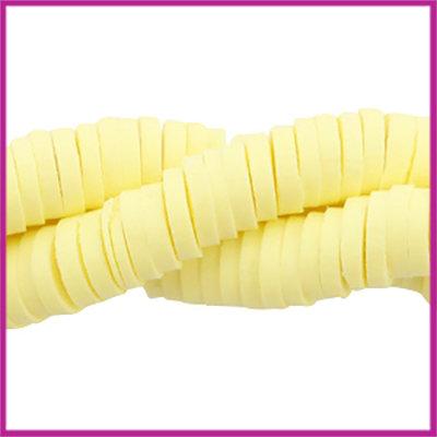 Katsuki kralen disc rond 4mm tender yellow