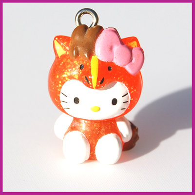 Hello Kitty oranje glitter vos