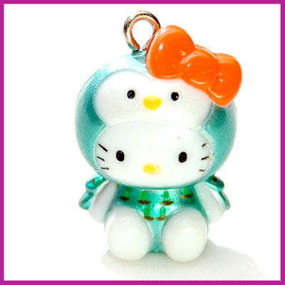 Hello Kitty vreemde vogel groen