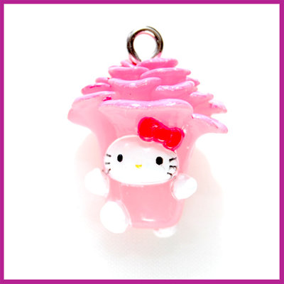 Hello Kitty roze bloem