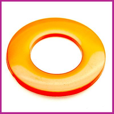Kunststof ring plat oranje