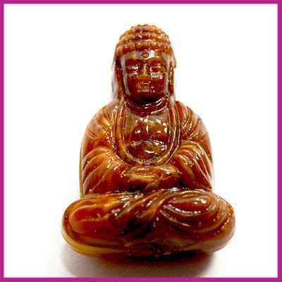DQ acryl kunststof kraal boeddha bruin