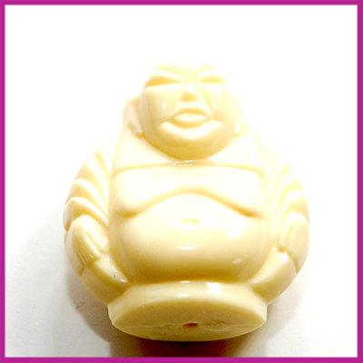 DQ acryl kunststof kraal monnik ivoor