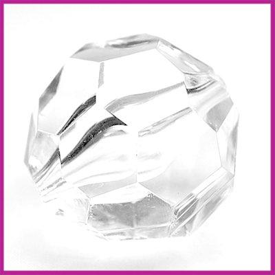 Kunststof facetkraal groot crystal