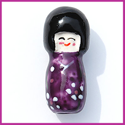 Keramiek Chinees poppetje paars