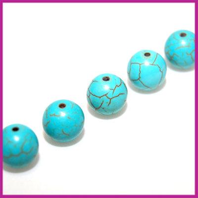Keramiek rond 12 mm turquoise
