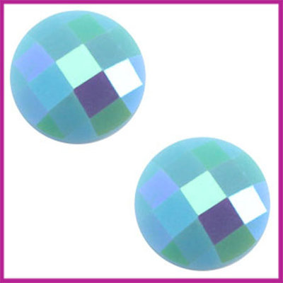 Basic cabochon plaksteen acryl 10mm Licht blauw diamond
