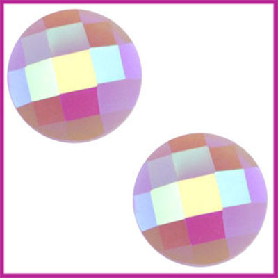 Basic cabochon plaksteen acryl 10mm violet paars diamond
