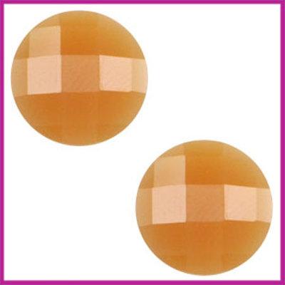 Basic cabochon plaksteen acryl 10mm soft topaz opal