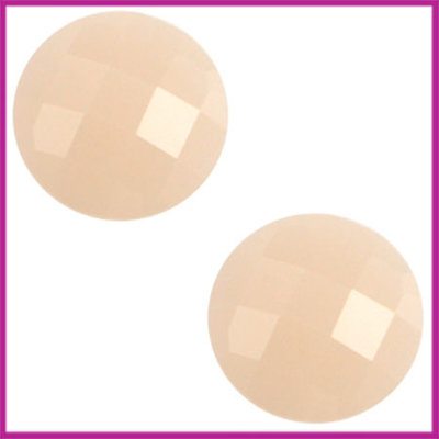 Basic cabochon plaksteen acryl 10mm light rose peach opal