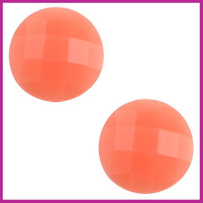 Basic cabochon plaksteen acryl 10mm coral orange opal