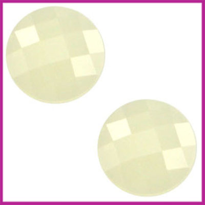 Basic cabochon plaksteen acryl 10mm light jonquil geel opal