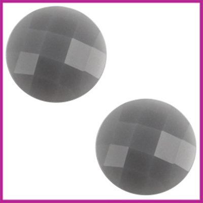 Basic cabochon plaksteen acryl 10mm grijs opal