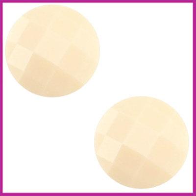 Basic cabochon plaksteen acryl 10mm silk beige