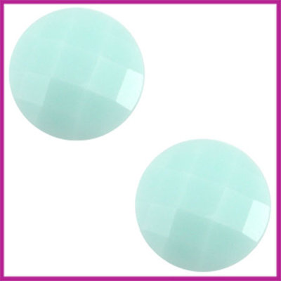 Basic cabochon plaksteen acryl 10mm light blue turquoise