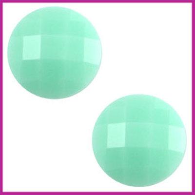 Basic cabochon plaksteen acryl 10mm mint groen