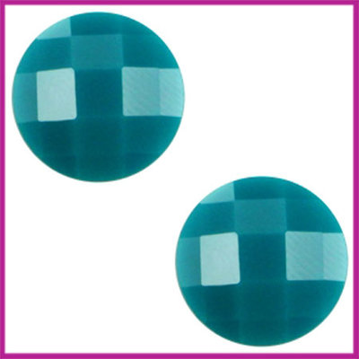 Basic cabochon plaksteen acryl 10mm deep blue zircon
