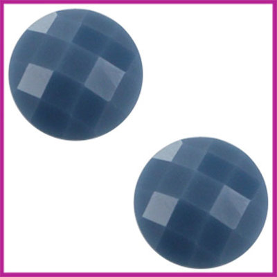 Basic cabochon plaksteen acryl 10mm dark sapphire blue