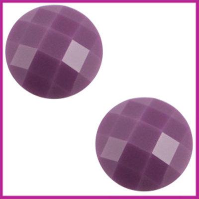 Basic cabochon plaksteen acryl 10mm deep violet purple