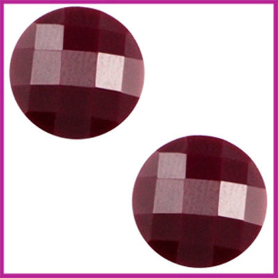 Basic cabochon plaksteen acryl 10mm aubergine purple