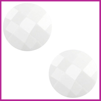 Basic cabochon plaksteen acryl 10mm wit