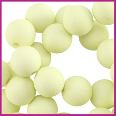 Acryl kraal mat rond 6mm Licht lime groen