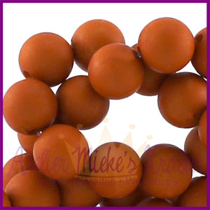Acryl kraal mat rond 6mm Mandarin Orange