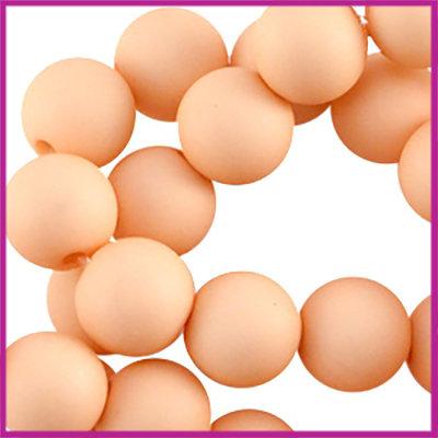 Acryl kraal mat rond 6mm Peach orange