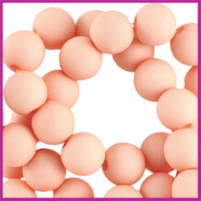 Acryl kraal mat rond 6mm Peach