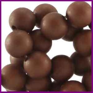 Acryl kraal mat rond 6mm Fudgesickle Brown