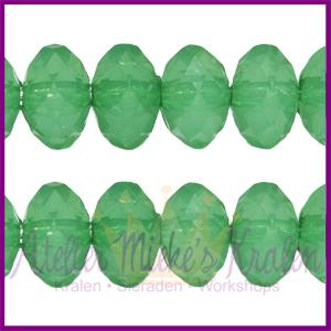 Acryl facet kraal disc 6x4mm lime groen opaal