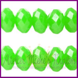 Acryl facet kraal disc 8x6mm Neon Groen
