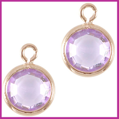 DQ facethanger gekleurd 10x7mm Rosegold - lila purple
