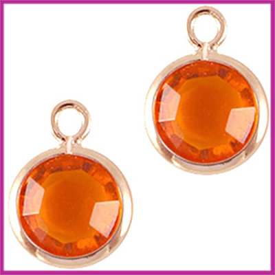 DQ facethanger gekleurd 10x7mm Rosegold - orange