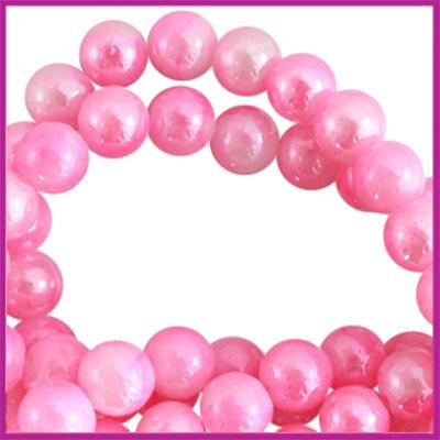 Glaskraal ø6mm gemêleerd Licht roze