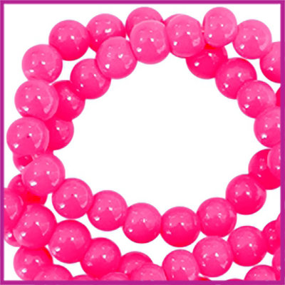 Glaskralen basic opaque ø3mm neon pink