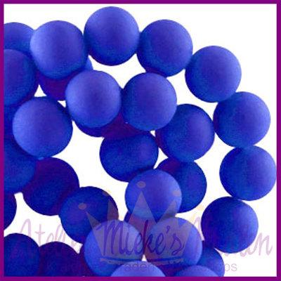 Glaskraal rond ø6mm mat Hollands blauw