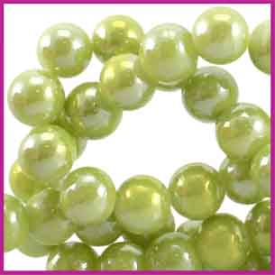 Glaskraal Diamond Coated Ø6mm Olivine Green